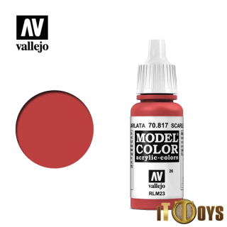 [026] 70.817 Vallejo Model Color (17ml) Scarlet