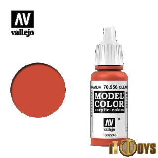 [025] 70.956 Vallejo Model Color (17ml) Clear Orange