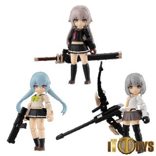 DESKTOP ARMY  Heavy Weapon High School Girl Team 1  Ichi, Ni & Roku (3pcs set)