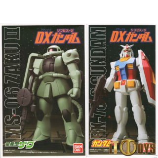 Sofvi Mobile Suit Gundam - RX-78-2 & MS06 Zaku II