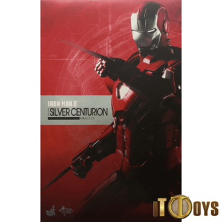 Hot Toys 1/6 Scale  MMS 213  Marvel Iron Man 3 Iron Man Silver Centurion Mark XXXIII