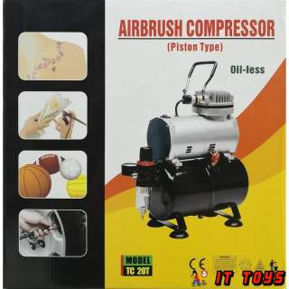 TC 20T Airbrush & Compressor (Piston Type) Oil-less