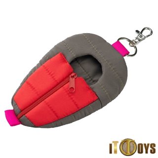 Nendoroid Odekake Pouch Sleeping Bag (Grey and Red Ver.)
