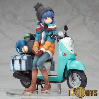 1/10 Scale Laid-Back Camp Shima Rin with Scooter