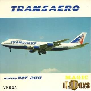 1/400 Scale  [VP-BQA]  Trans Aero Boeing 747-200