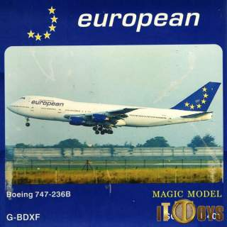1/400 Scale  [G-BDXF]  European Boeing 747-236B