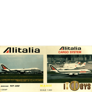 1/400 Scale  I-DEMP Alitalia & Cargo System Boeing 747-200 & 747-200F