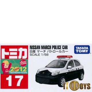 Tomica [017] Nissan March Police Car