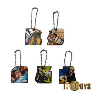 One Piece Keychains (5pcs Set)