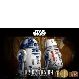 1/12 Scale  Star Wars  R2-D2 & R5-D4 Astromech Droids