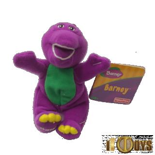 Plush Toys Barney Hook Keychain